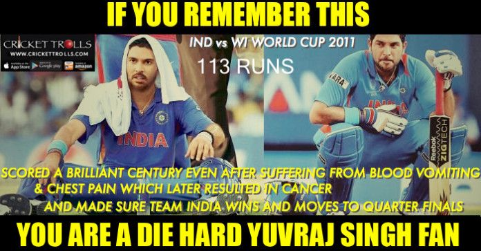 #Onthisday #YuvrajSingh #INDvsWI #ODI #WorldCup2011  Remember this fighting knock of Yuvraj Singh in World Cup 2011  http://www.crickettrolls.com/2016/03/21/on-this-day-in-2011/