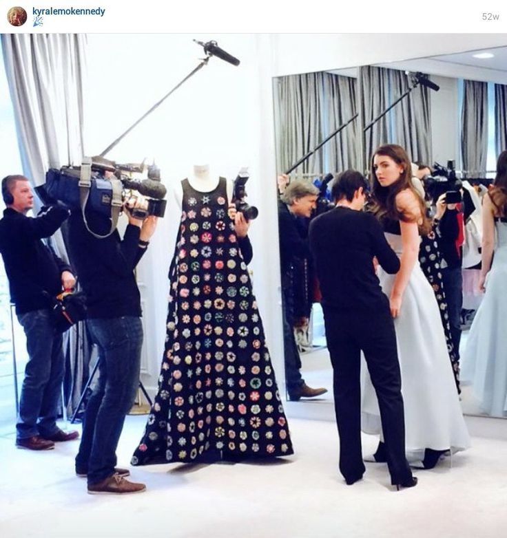 From Kyra Lemoyne Kennedy's Instagram - (being fitted and filmed at Dior in Paris for her debut at Les Bal des Debutantes)