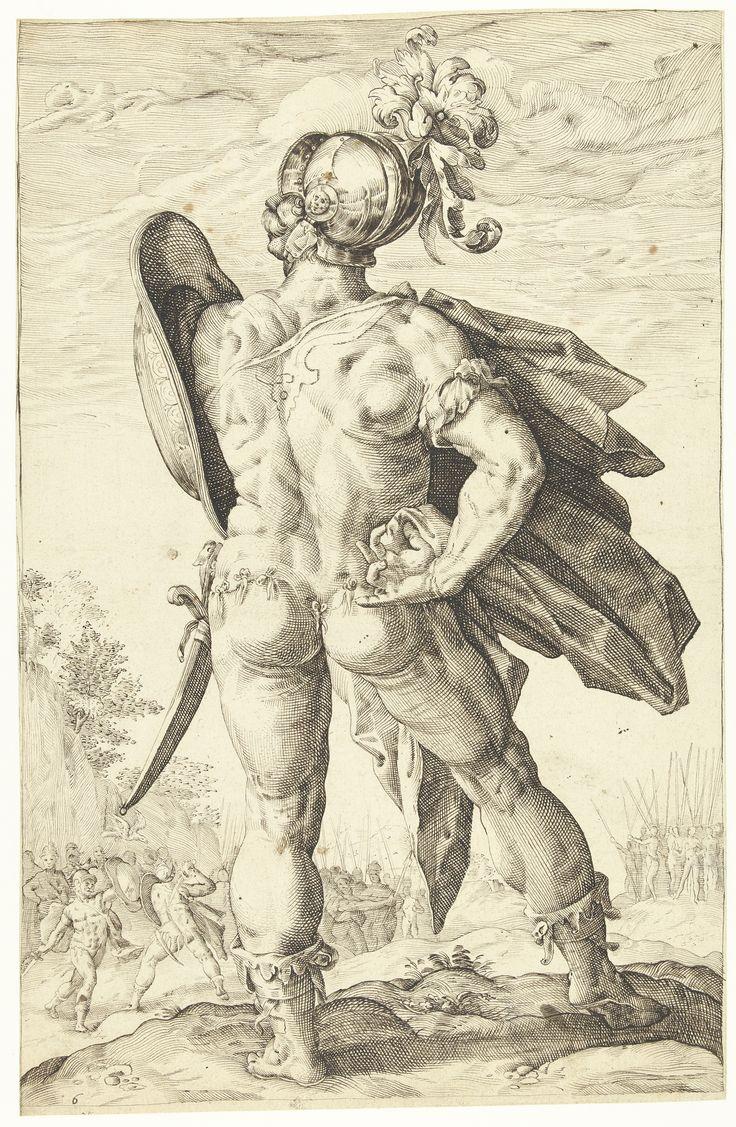 Marcus Valerius Corvus, Roman hero by Lucas van Haelwech, 1602. Rijksmuseum, Public Domain