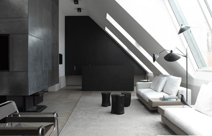 Living Room Space in A Modern Loft Conversion by Bernd Gruber