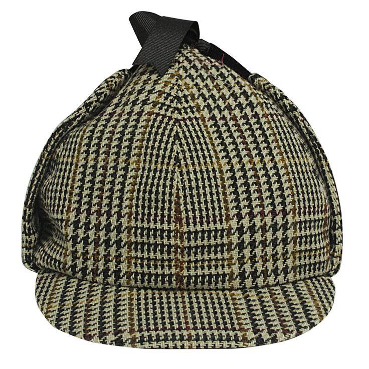 Sherlock Holmes hat Tweed Green Beige