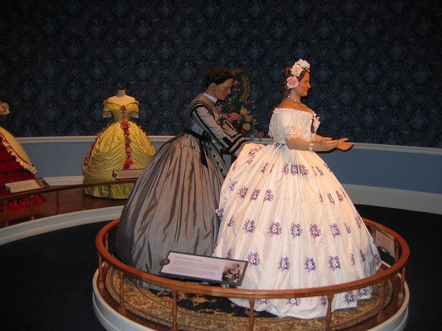 Mary Todd Lincoln and her dressmaker, Elizabeth Keckly, at the Abraham Lincoln Presidential Museum, Springfield, Illinois