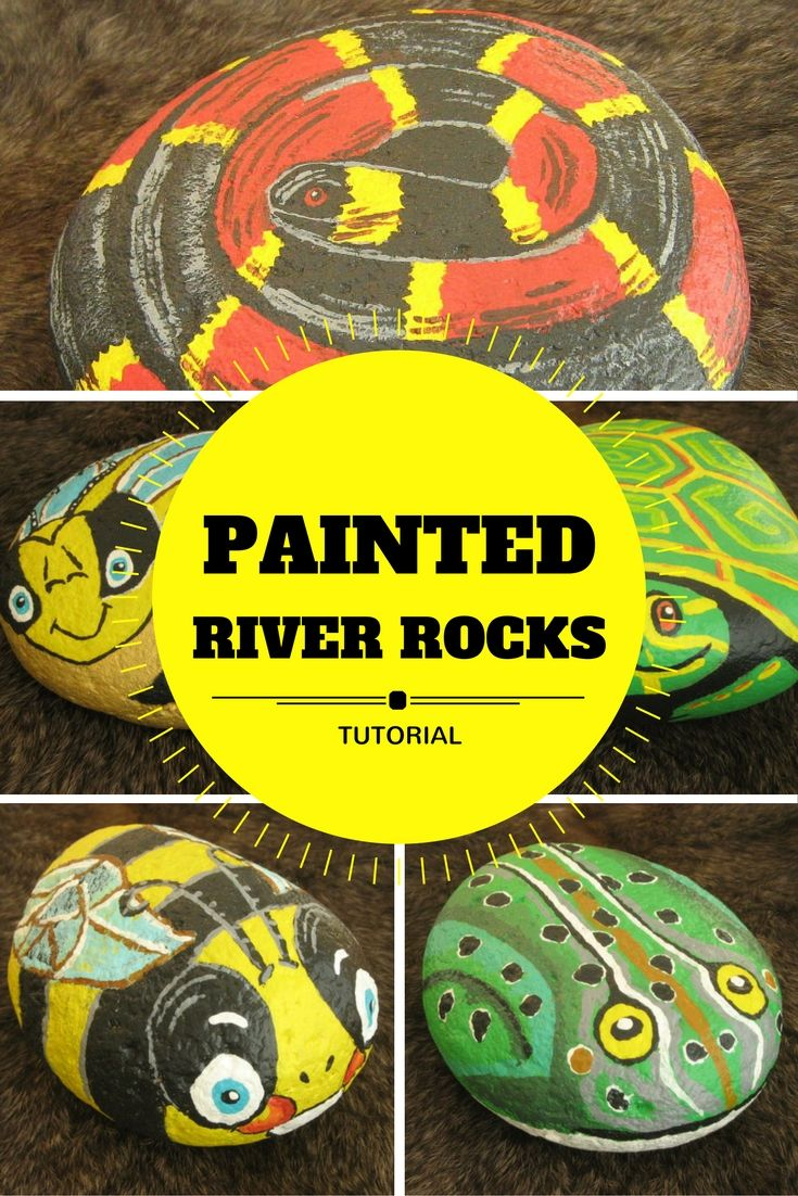 Painted River Rocks for your garden or indoor/outdoor home decor. This is a