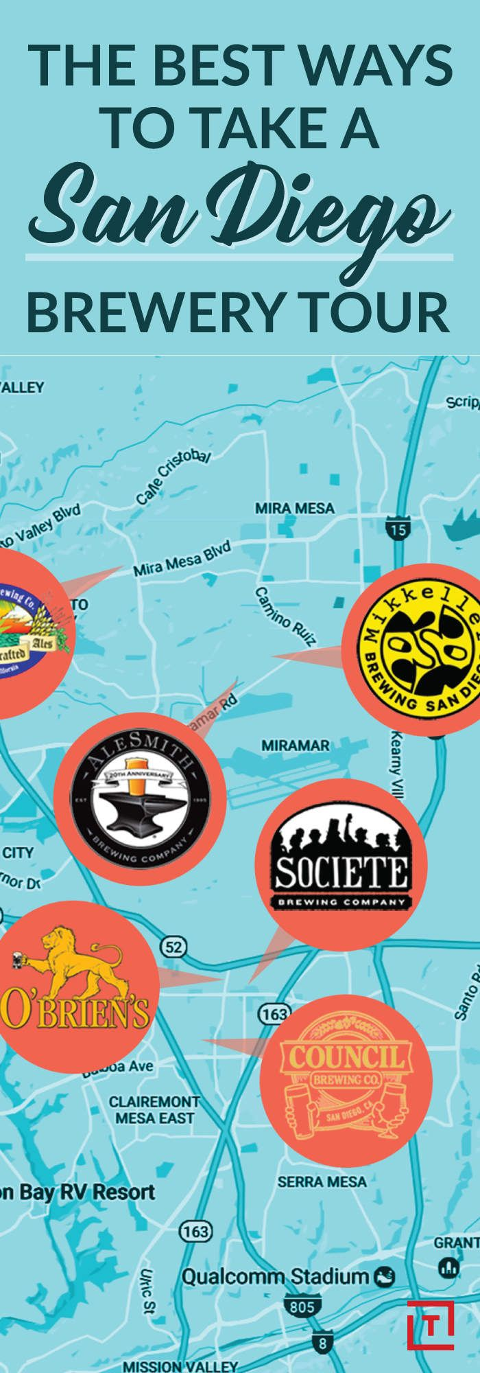 the 5 best san diego brewery crawls, mapped