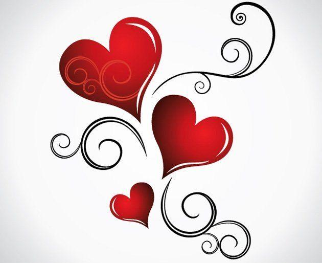 hearts a swirl