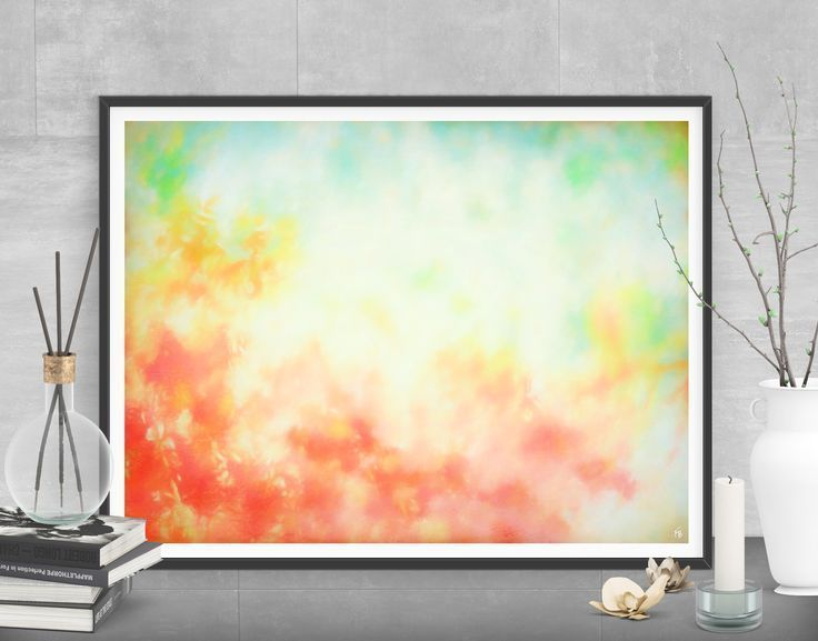 Bring a warm cozy feeling to your dining room! Red large painting - Printable art by FraBorArt. #digitalart #downloadable #printable #affordable #etsy #art #fraborart