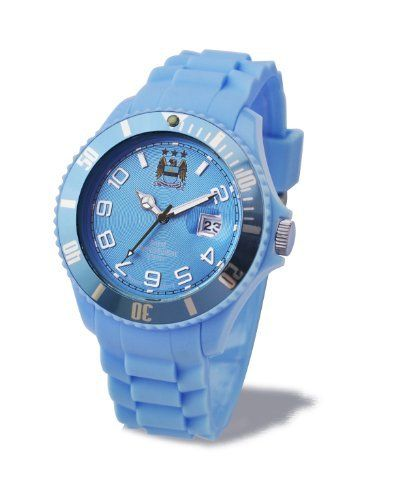 Manchester City FC Analogue Sky Blue Silicone Strap Unisex Watch GA2910-44 Manchester City. $97.95