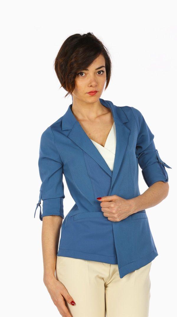 Mavi Kumas Ceket 840222 Kapida Odemeli Ucuz Bayan Giyim Alisveris Sitesi Modivera Kadin Ceketleri Mavi Kumas Kadin Olmak