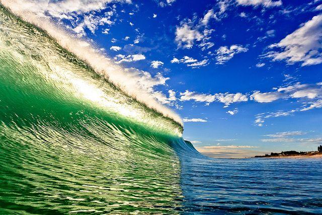 Surf's up at Trigg beach