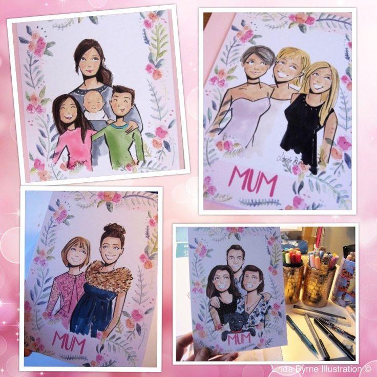 Mother's Day Card Linda Byrne Illustration, www.lindabyrneillustration.com