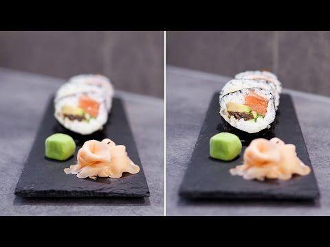 Jak zrobić sushi futomaki z wędzonym łososiem | RobimySushi.com - YouTube