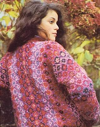 Sweater looks like quilt pattern