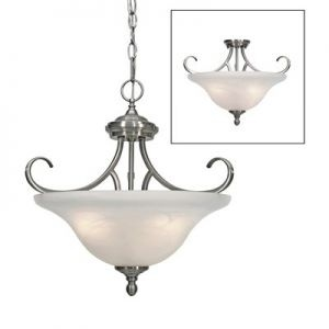 Lancaster Semi Flush Mount Converts To Pendant Includes 6