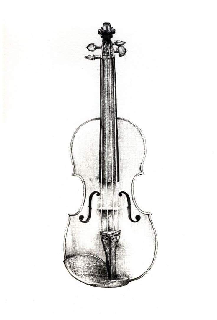 Картинки скрипки для срисовки