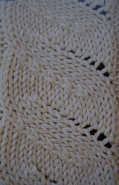 Knitting Stitches Sl1 : Black Dog Designs - flat cable: an illusion - a cable that isnt really a...