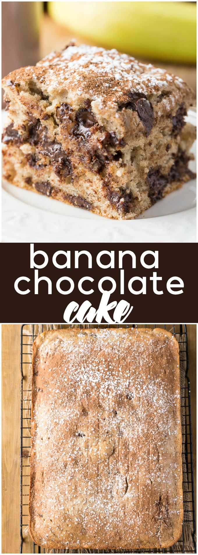 Banana Chocolate Cake - Rich, luscious and fully of yummy chocolate flavour. You won't be able to stop at just one piece. #ad
