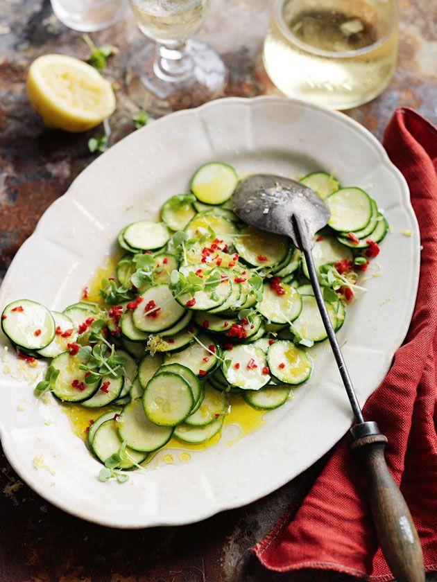 marinated zucchini salad