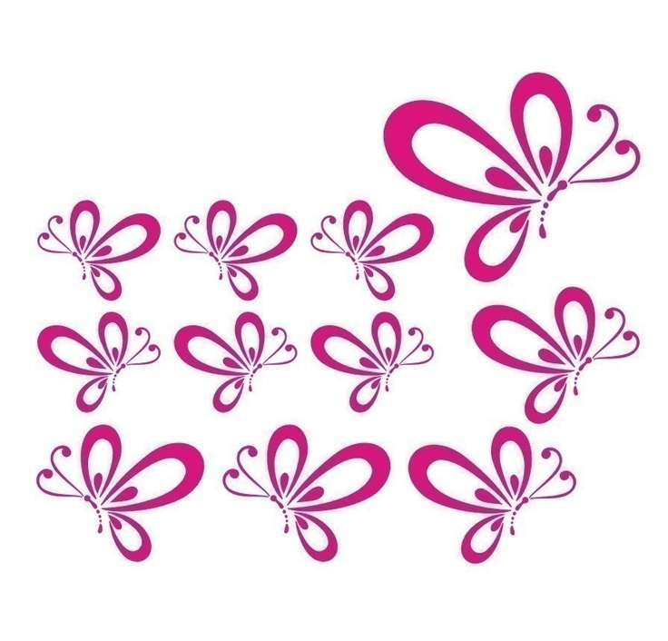For Jordan Butterfly Vinyl Wall Decals set of 12 Choose colors. $22.00, via Etsy.