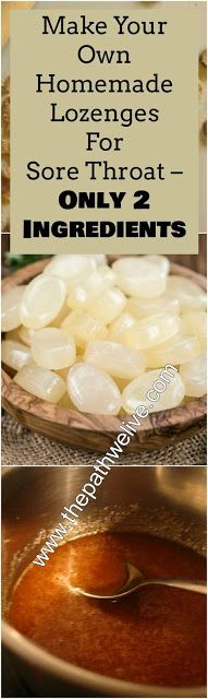 Make Your Own Homemade Lozenges For Sore Throat – Only 2 Ingredients!!!