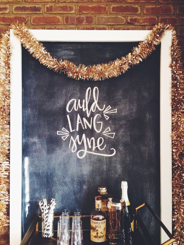Happy New Year! - who knew those tinsel garlands could be so chic!