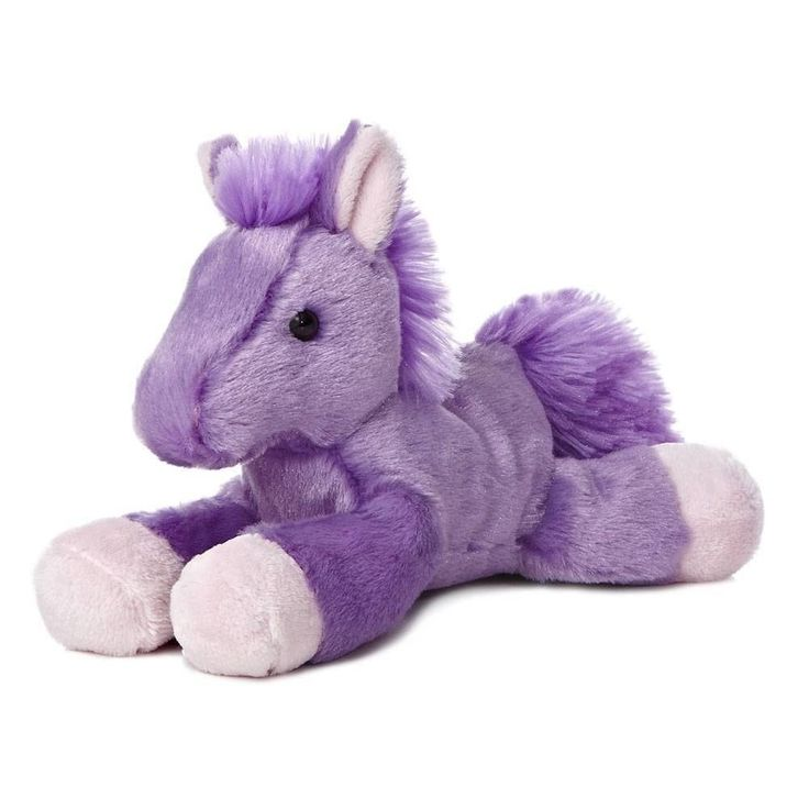 "8"" Aurora Plush Horse Pony Purple & Pink Mini Flopsie Stuffed Animal Toy 31342 #Aurora"