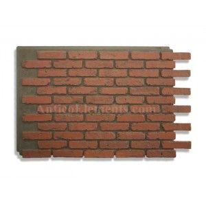 Antico panel brick walls red faux stone brick pinterest brick walls bricks and red - Red brick wall panel ...
