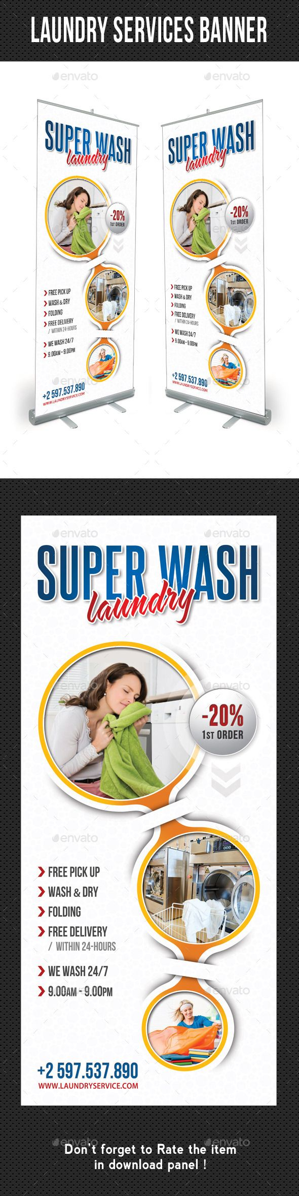 Laundry Services Banner Template V02