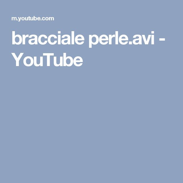 bracciale perle.avi - YouTube