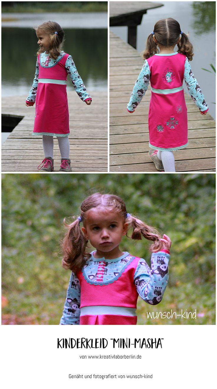 "Mini-Masha von ""wunsch-kind"": http://de.dawanda.com/product/106471287-schnittmuster-kleid-shirt-mini-masha-92-164"