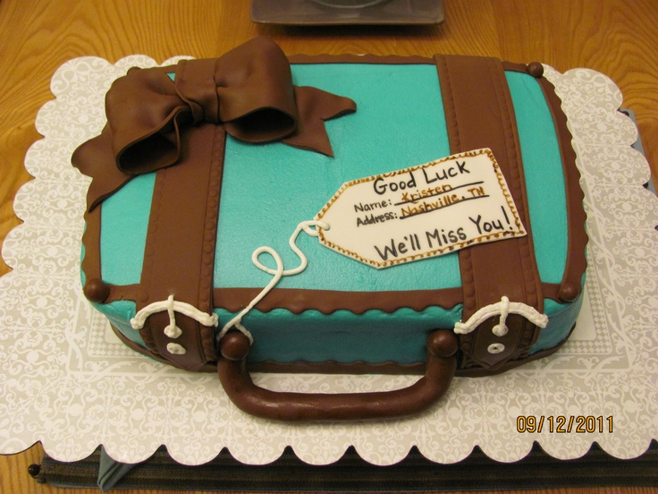 Goodbye Cake Images : Goodbye Suitcake Cake party/ tailgates Pinterest ...