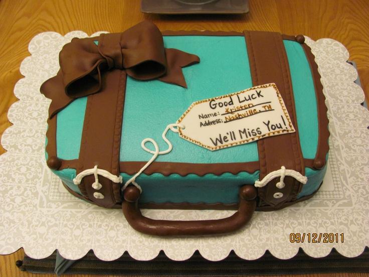 Goodbye Cake Images : Goodbye Suitcake Cake party/ tailgates Pinterest ...