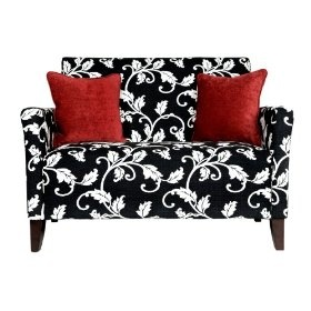 This will look great in our bedroom.: Angelohom Sutton, Black And White, Angelo Hom Sutton, Loveseats Black, Living Room, Black White, Homes, Sutton Loveseats, White Vines