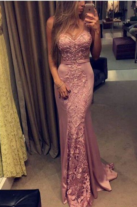 Lace prom dress, ball gown, unique design purple lace chiffon sweetheart dress for prom 2017