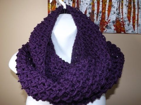 ▶ Crochet Circle or Infinity Scarf - YouTube. Shows how to create the circle in the beginning (versus joining the two ends as a final step).