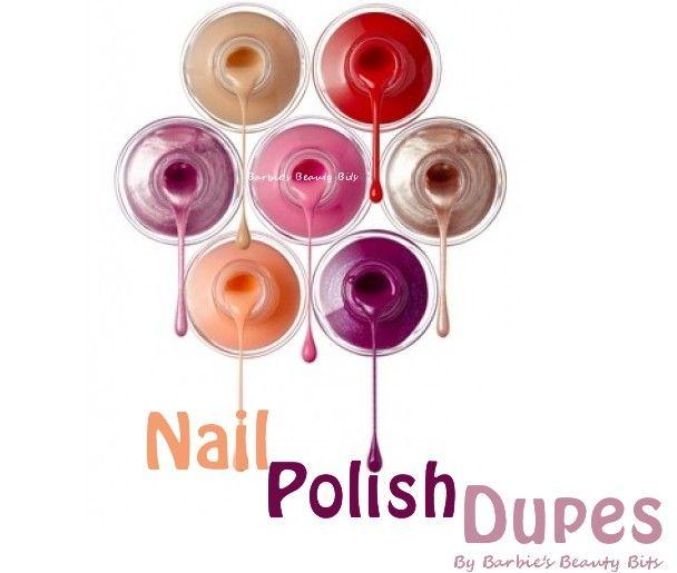 O.P.I. NAIL POLISH DUPES, by Barbies Beauty Bits.