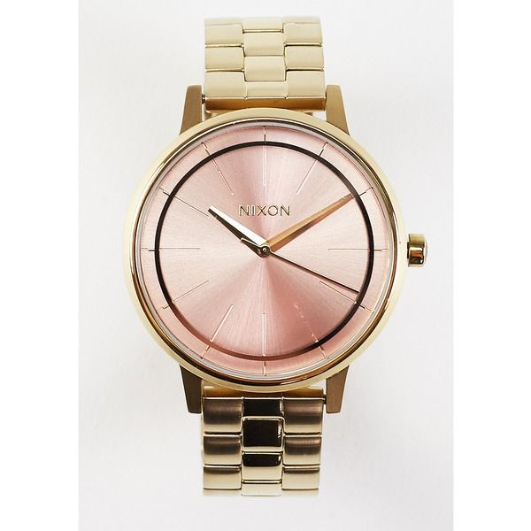 Nixon Uhr Kensington light gold/pink