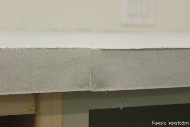 Concrete Countertop Seam Diy Concrete Countertops Concrete Diy
