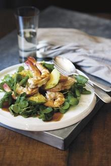 Salad of King Prawns, Avocado & Watercress - Kylie Kwong