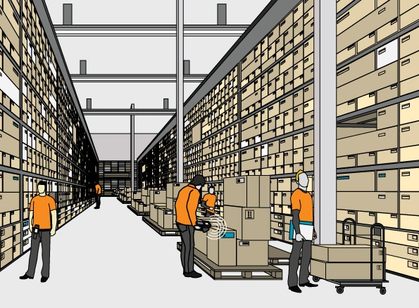 RFID in wholesale and/or warehouses