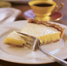 lemon tart with walnut crust. so. good.