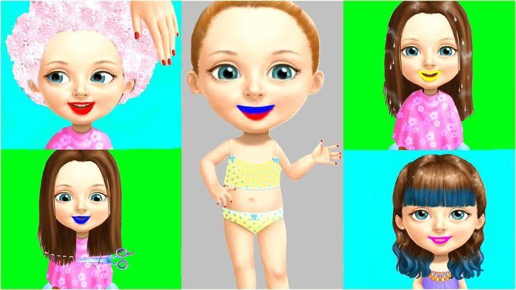 Bad Kids & Fun Baby Girl Care Game 👠💄👗 Makover Hair Salon Game Sweet Bab...