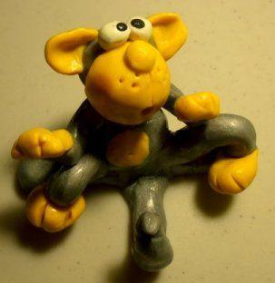 polymer monkey-key-holder