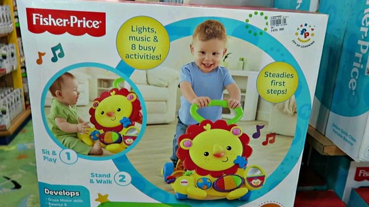 Toys for Babies Learn to Stand and Walk - Fisher Price Musical Lion Walker