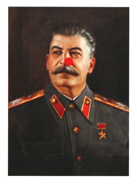 Damien Hirst - Joseph Stalin  Edition of 500. Signed in pencil lower right and numbered lower left by Hirst. This print was not intended for commercial release, but for presentation by Hirst. The print is based on an original painting once owned by A. A. Gill, to which Hirst added a signature red spot to enable it to be auctioned for the Comic Relief charity. (The painting achieved a price of £140,000 at Sotheby's in London, February 2007).