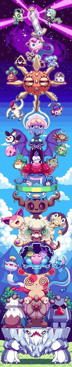 Pokémon: A missão de Jigglypuff. Pegue a espada sagrada para revelar Pokémons da 7 Geração!!!