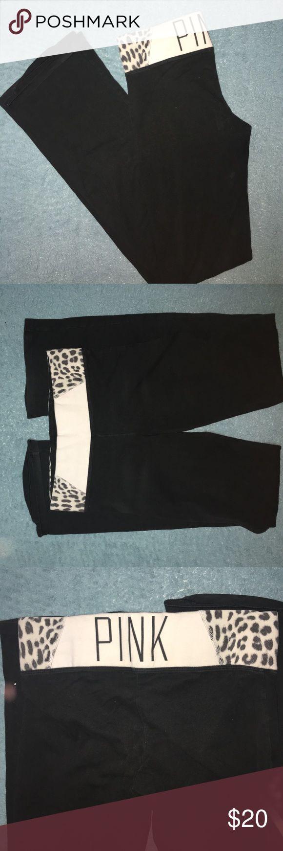 Bootcut Leggings Great condition. Size S Long. PINK Victoria's Secret Pants Leggings