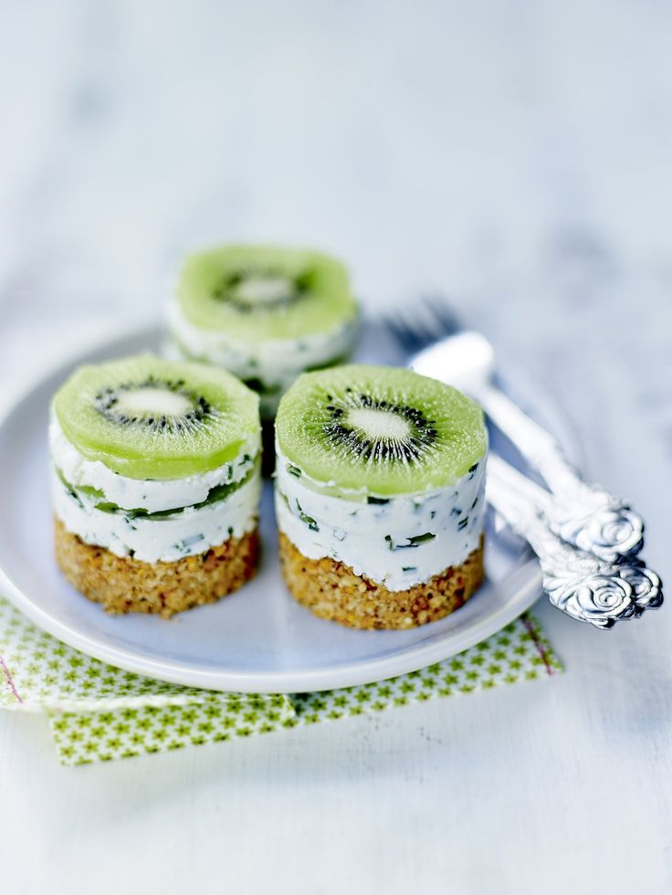 cheesecakes sal s aux kiwis recettes recette recette. Black Bedroom Furniture Sets. Home Design Ideas