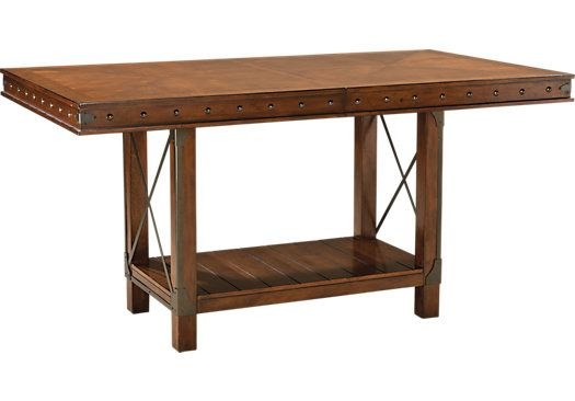 red hook pecan rectangle counter height dining table 72l x