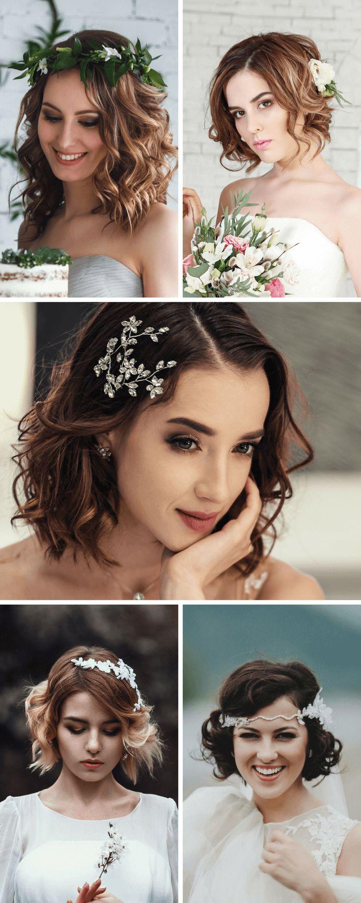 25 Brautfrisur-Ideen für kurze und mittellange Haare