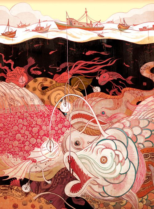 TROUVAILLE [noun] 1. a lucky find. 2. an ingenious idea. Etymology: from Old French trouver - to compose, find. [Victo Ngai - Deep Thinkers].../ art